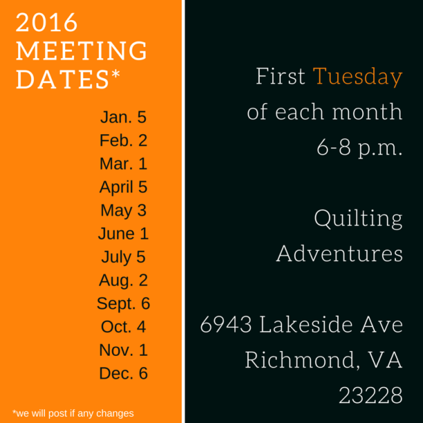Meeting Dates 2016