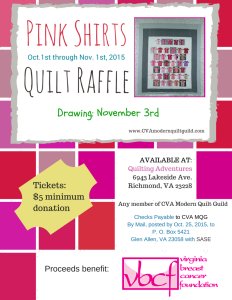 2015 Pink Shirts Raffle Flyer