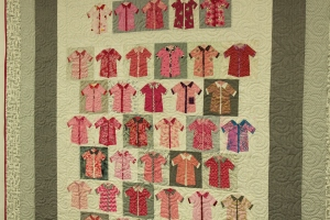 Pink Shirts Quilt 2015 close up