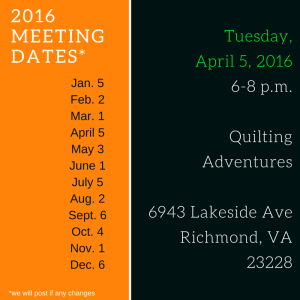 2016 Meeting Dates April 2016