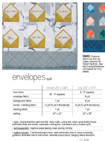 Envelopes Fabric Requirements